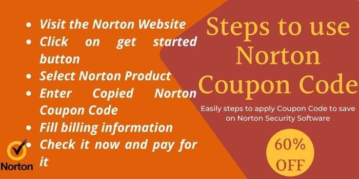 Steps to use Norton Coupon Code