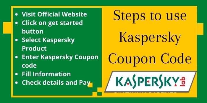 Steps to use Kaspersky coupon