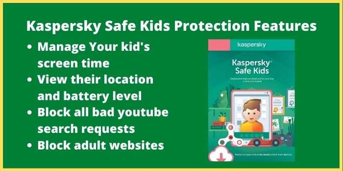 Kaspersky Safe Kids Protection Features