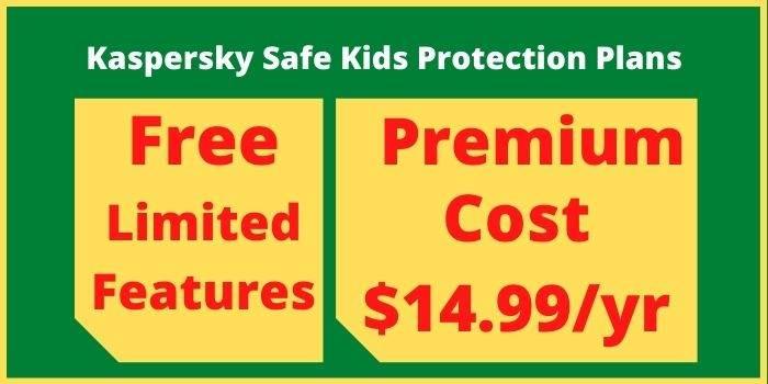 Kaspersky Safe Kids Protection Plans