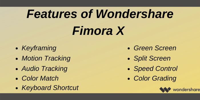Wondershare Coupon Code - Features of Wondershare Filmora X