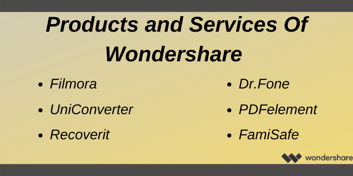 Wondershare Coupon Code - Products and services of wondershare