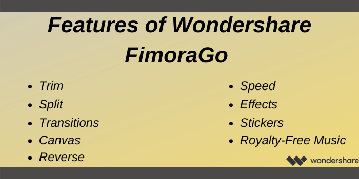 Wondershare Discount Code - Features of Wondershare FilmoraGo