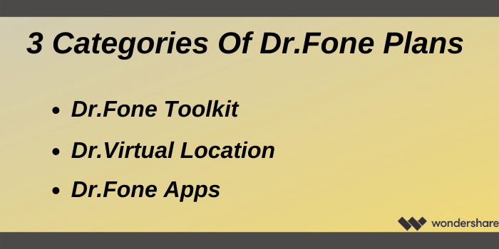 Wondershare Discount Code - Three Categories Of Wondershare Dr.Fone Plans