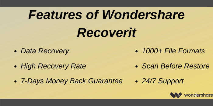 Wondershare Promo Code - Features of Wondershare Recoverit