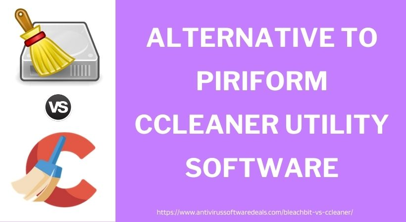 alternative to piriform CCleaner utility software