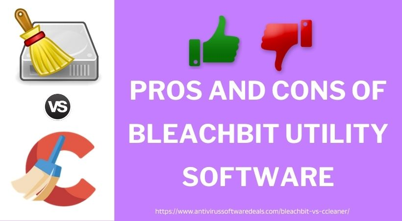 pros and cons of bleachbit utility software