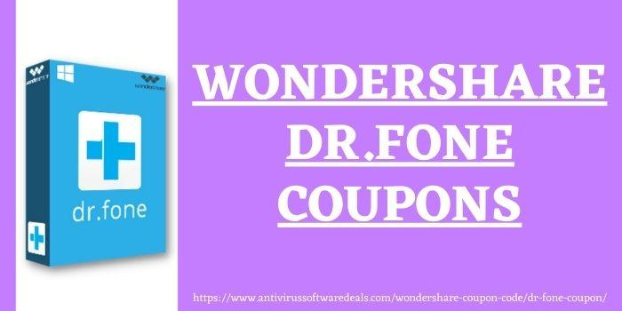 Dr Fone Coupon Code www.antivirussoftwaredeals.com