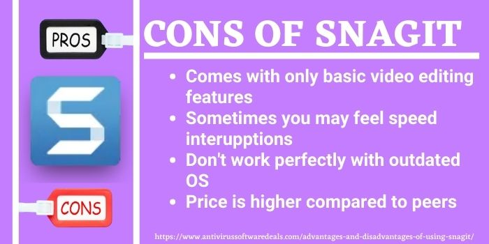 Pros and cons of snagit