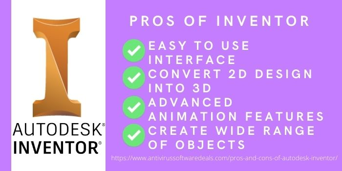 Pros Autodesk Inventor software