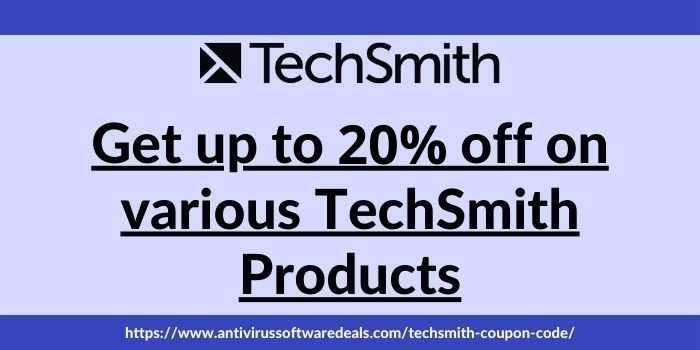 TechSmith Coupon Code- Upto 20% Off